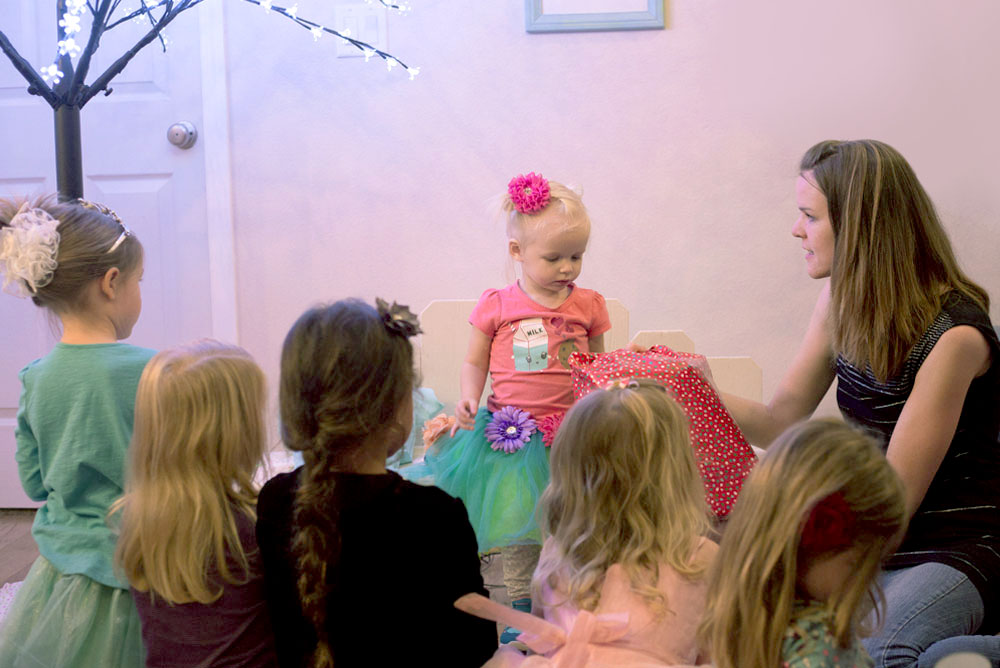 Cute toddler girl's Fairy Themed Birthday Party - Mommy Scene