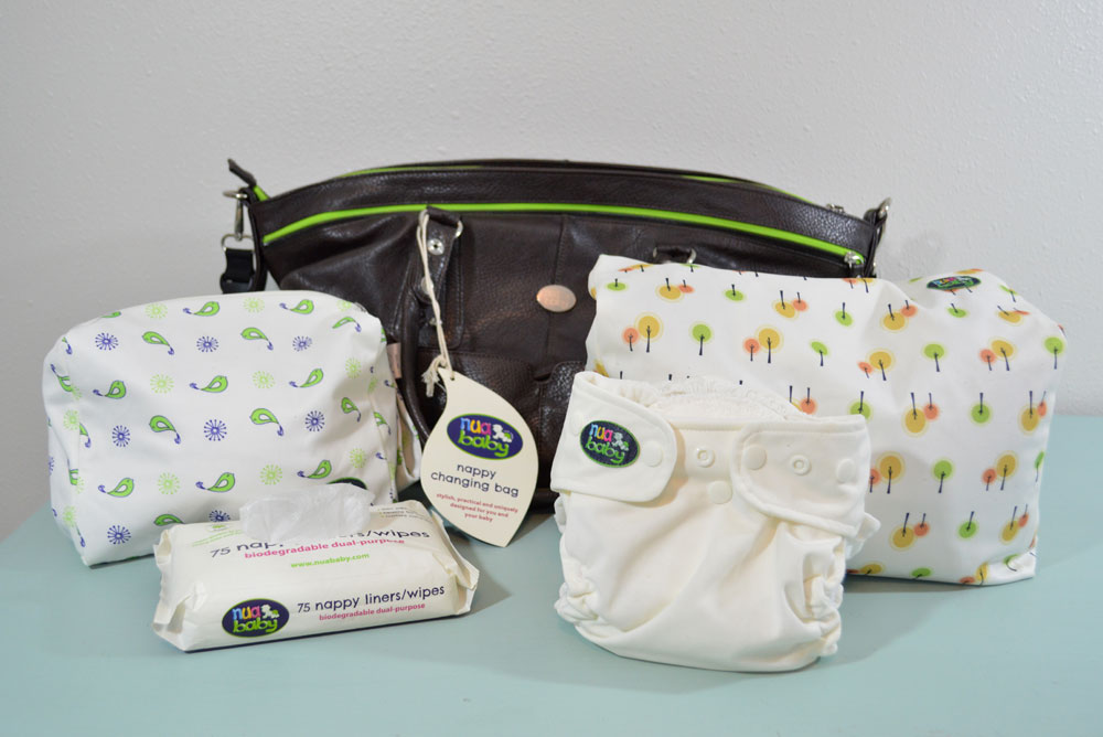 nuababy ecofriendly diapering accessories - Mommy Scene review