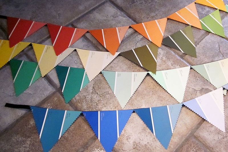 Paint Chip decorative pennants - Mommy Scene