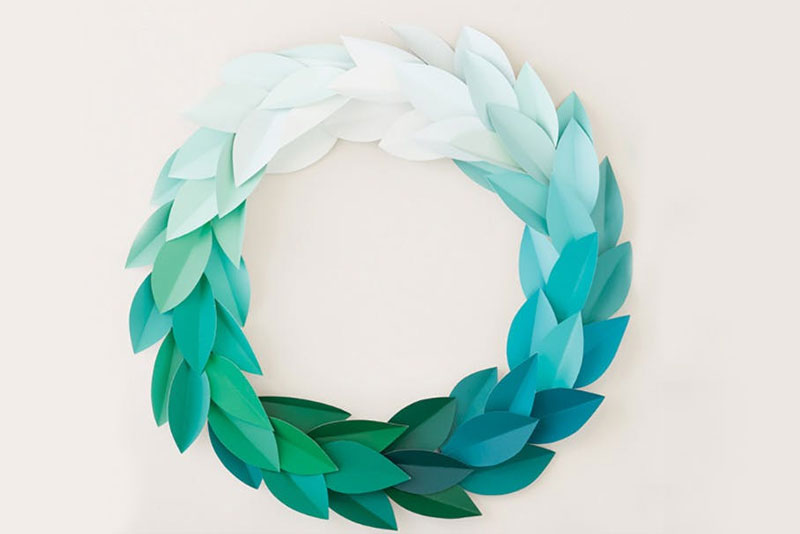 Paint Chip DIY Wreath - Mommy Scene