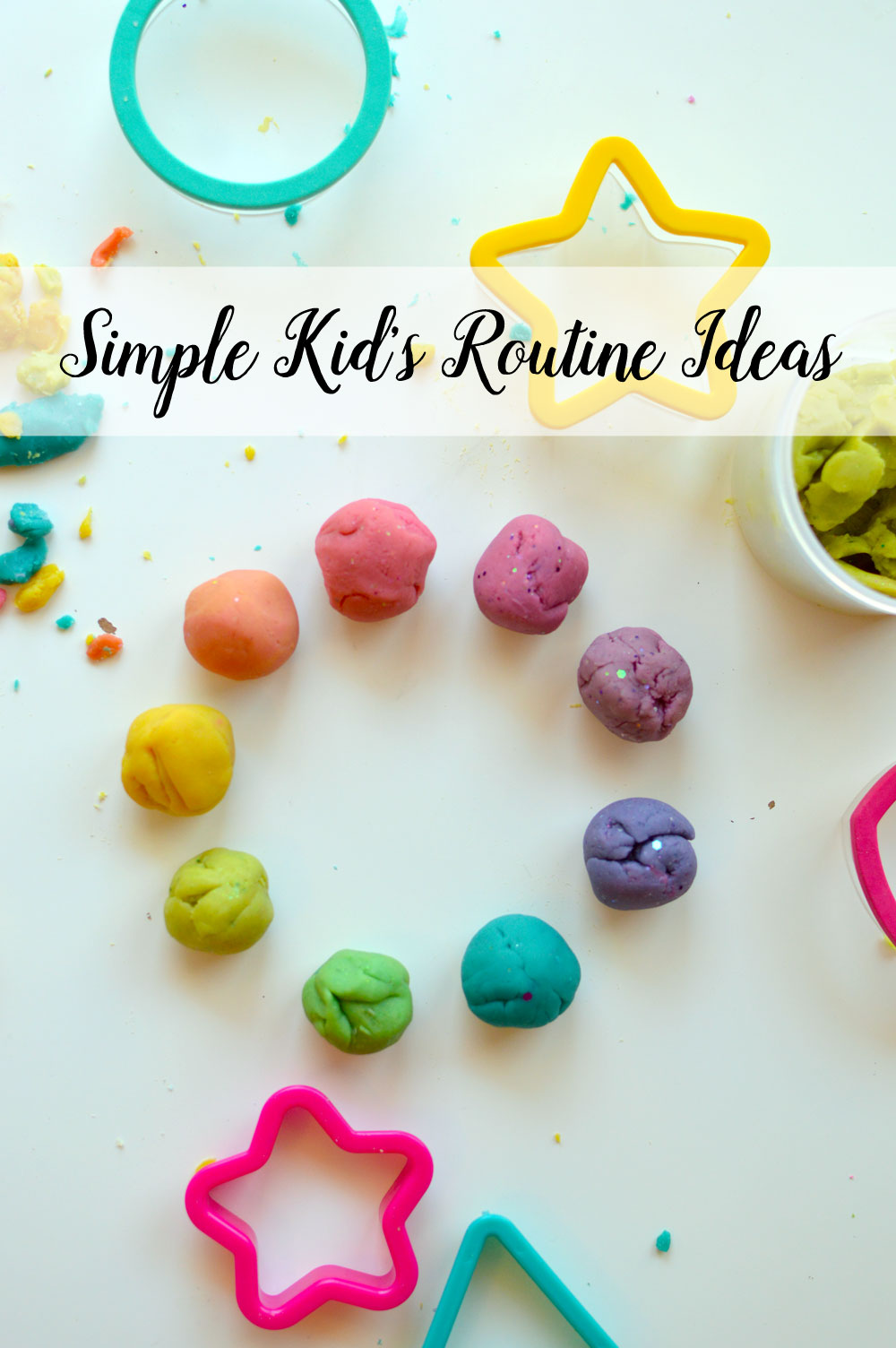 Simple Kids Routine Ideas Playing with Play Dough - Mommy Scene