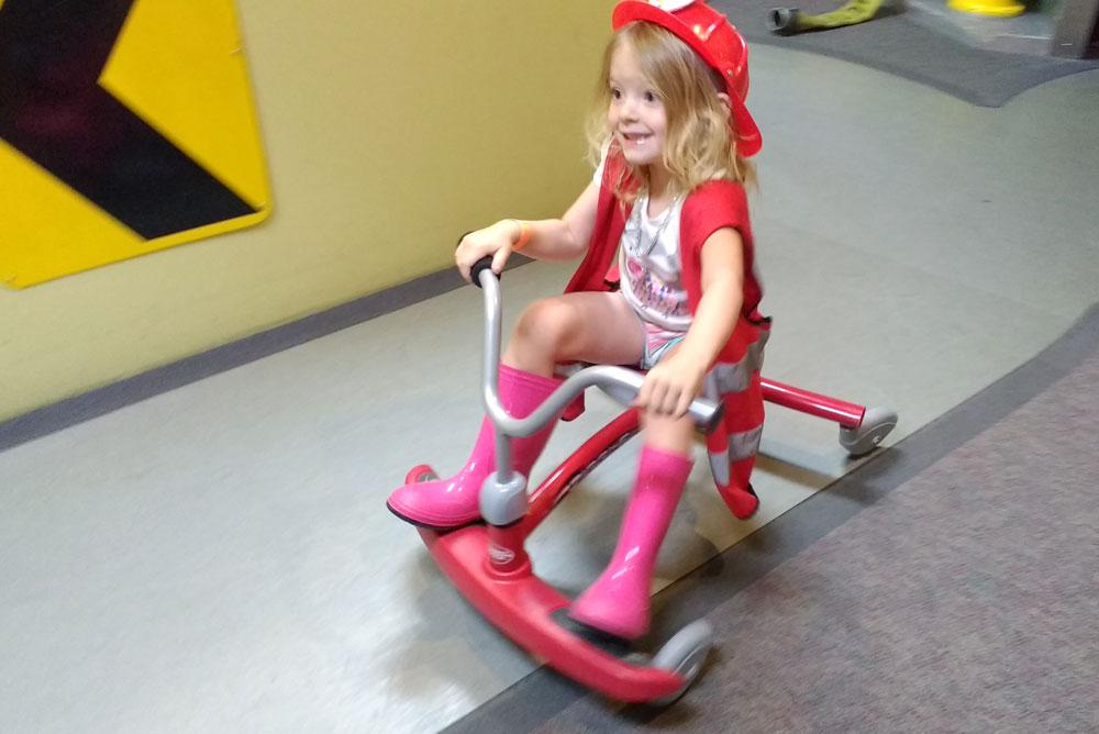 Spokane Children's Museum firetruck push cars - Mommy Scene