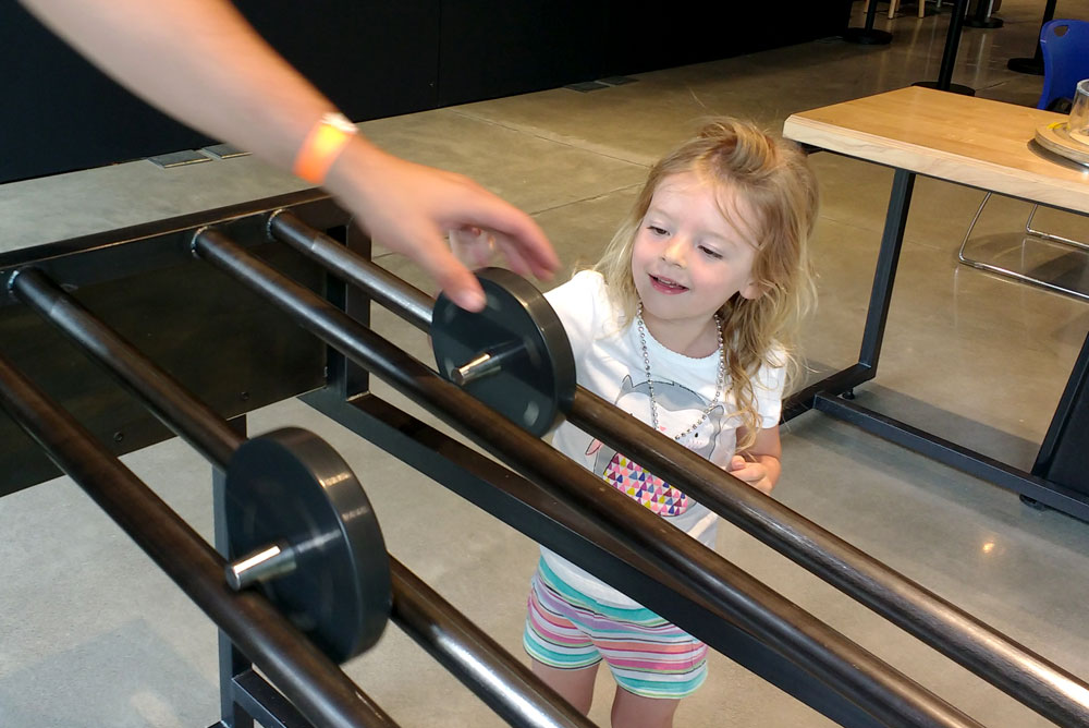 Mobius Spokane science center weight and velocity kids activity - Mommy Scene