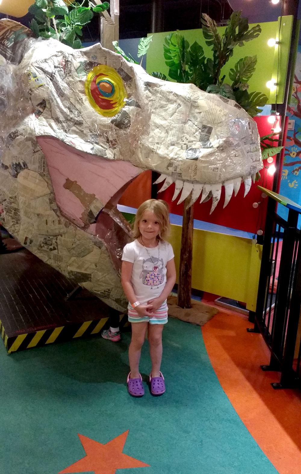 Mobius Spokane Children's Museum dinosaur sculpture - Mommy Scene