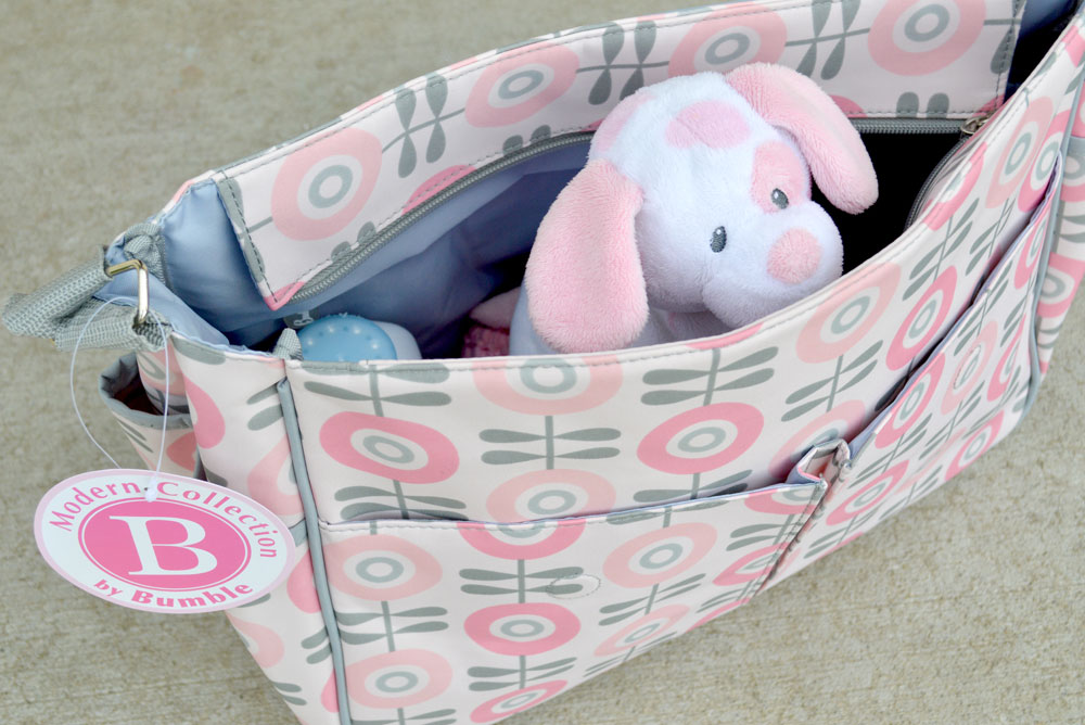 BumbleCollection Amber Tote in Modern Floral - Mommy Scene