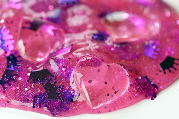Glittery Princess Slime with glitter and jewels