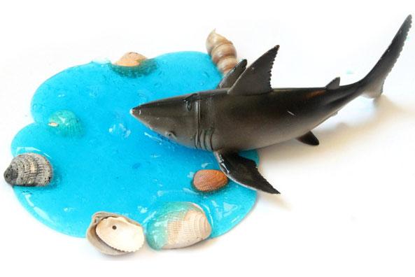 DIY sensory shark slime