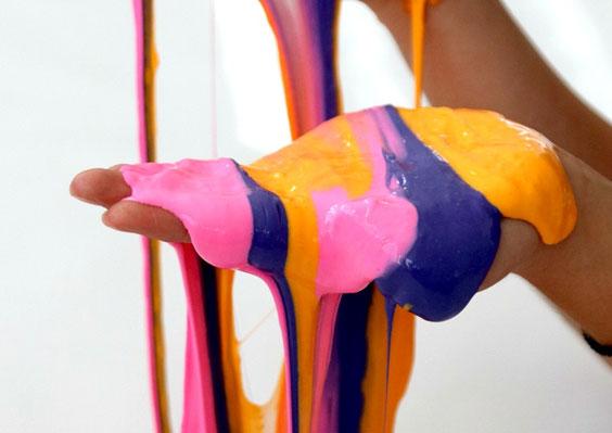 DIY Striped Slime kids' activity