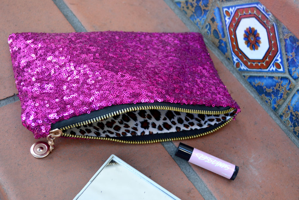 KraftyChix sparkle clutch cosmetics bag - Mommy Scene