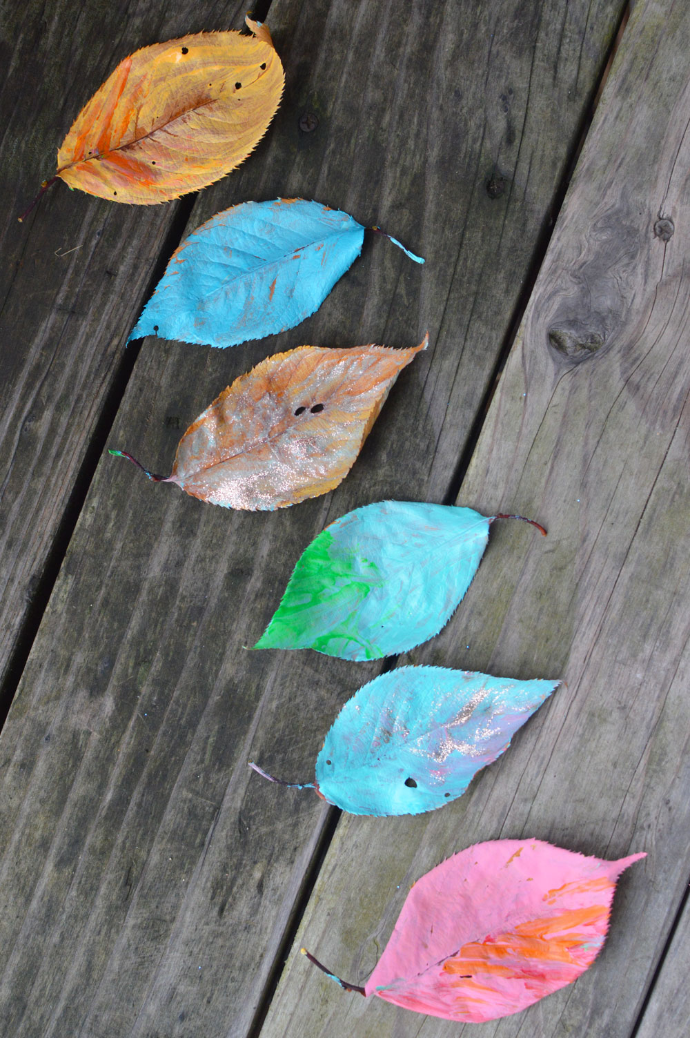 Creative Leaf Painting for Kids