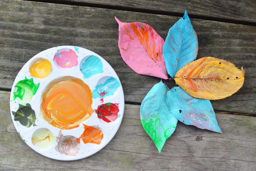 Easy Fall Leaf Painting Art for Kids - Mommy Scene