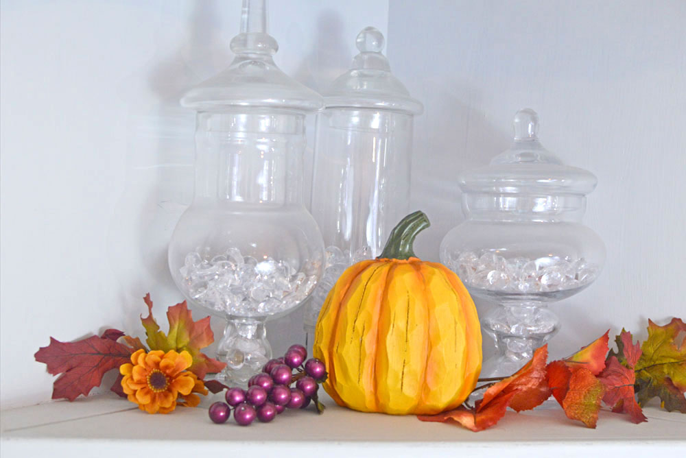 Decorate for fall with apothecary jars - Mommy Scene