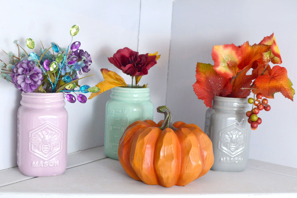 Simply Beautiful Fall Decorations and Mason Jars - Mommy Scene