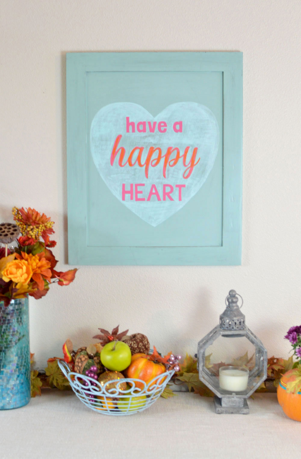 DIY Happy Heart Wood Wall Art - Mommy Scene