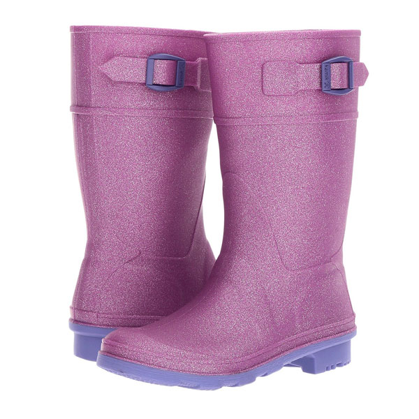 Glitzy rain boot from Kamik - Mommy Scene Holiday Gift Guide