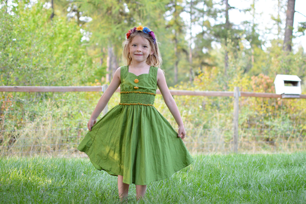 Leleforkids green Audrey dress for girls - Mommy Scene