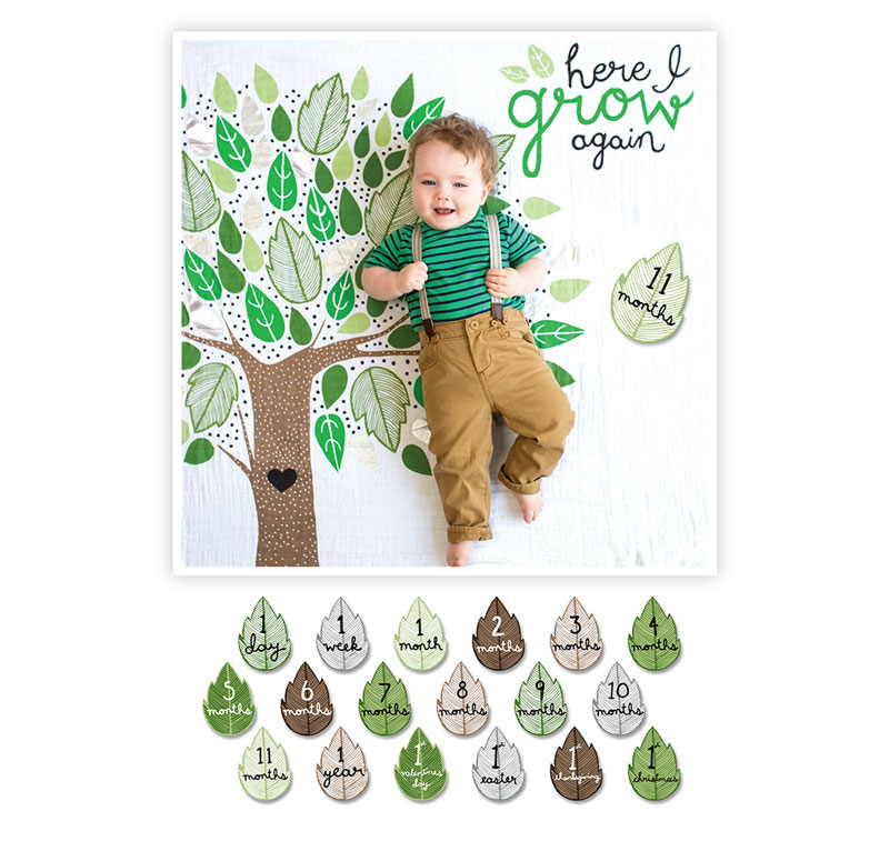 Lulujo Baby's First Year blanket & cards sets - Mommy Scene holiday gift guide