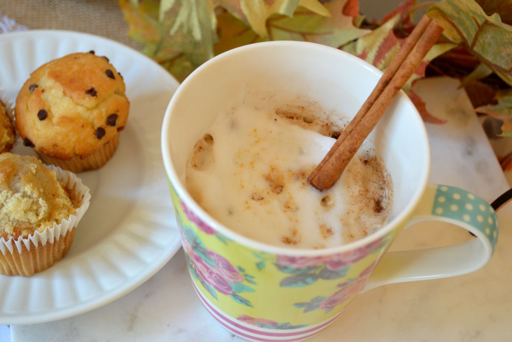 Homemade pumpkin spice latte coffee drink - Mommy Scene