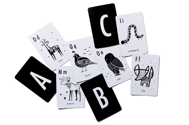 Wee Gallery Animal Alphabet Cards - Mommy Scene Holiday Gift Guide