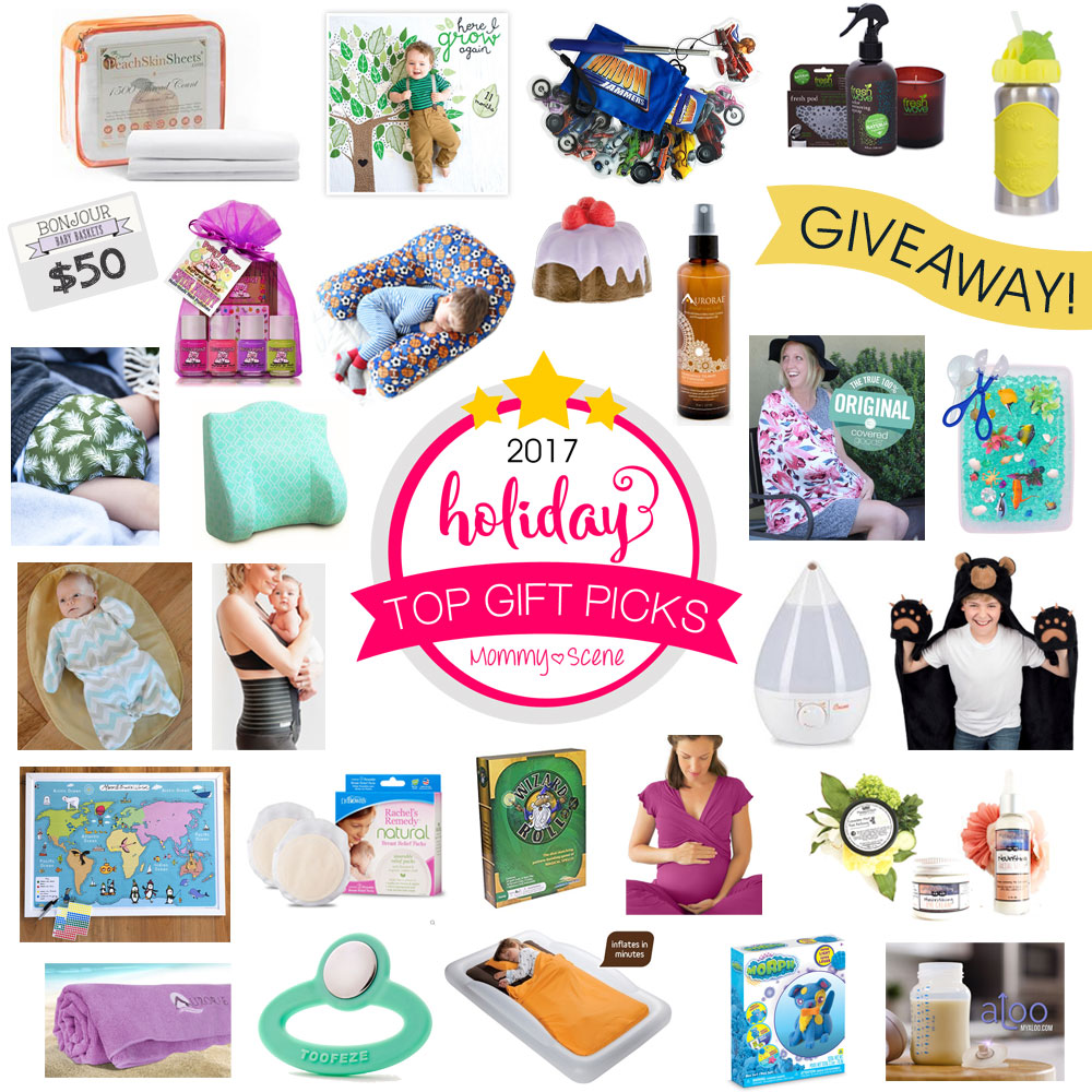 2017 Holiday Gift Guide Giveaway gift collection for babies, kids and moms - Mommy Scene