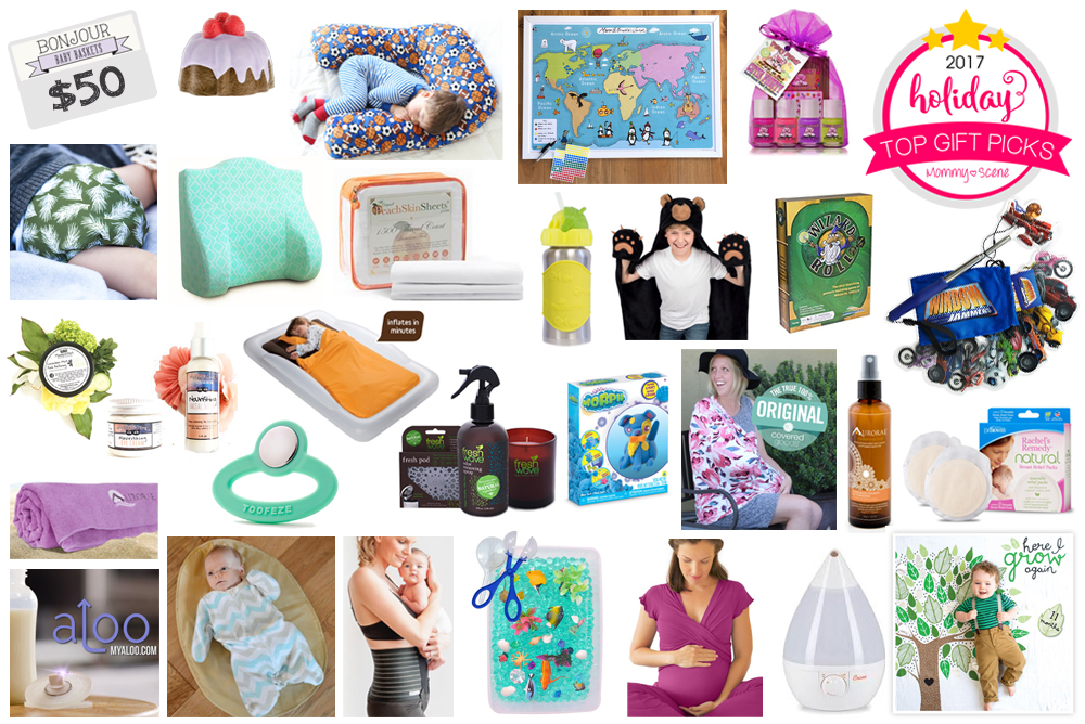 2017 Holiday Gift Guide Giveaway and prizes for babies, kids and moms - Mommy Scene