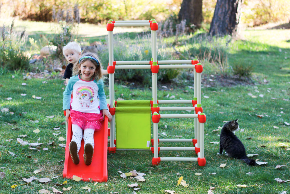 Lil' Monkey Climb N Slide jungle gym - Mommy Scene
