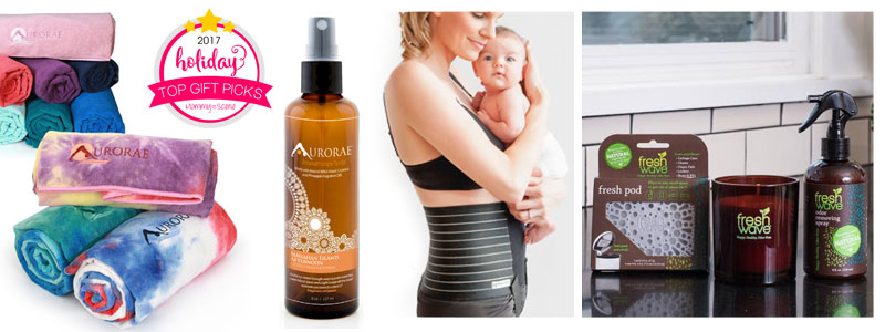 Mommy Scene top gift picks giveaway - Aurorae Yoga, Mama Strut, Fresh Wave
