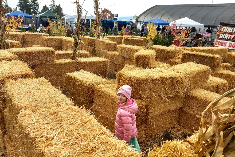 Hay Maze at New Leaf Nursery Fall Festival Coeur d'Alene - Mommy Scene