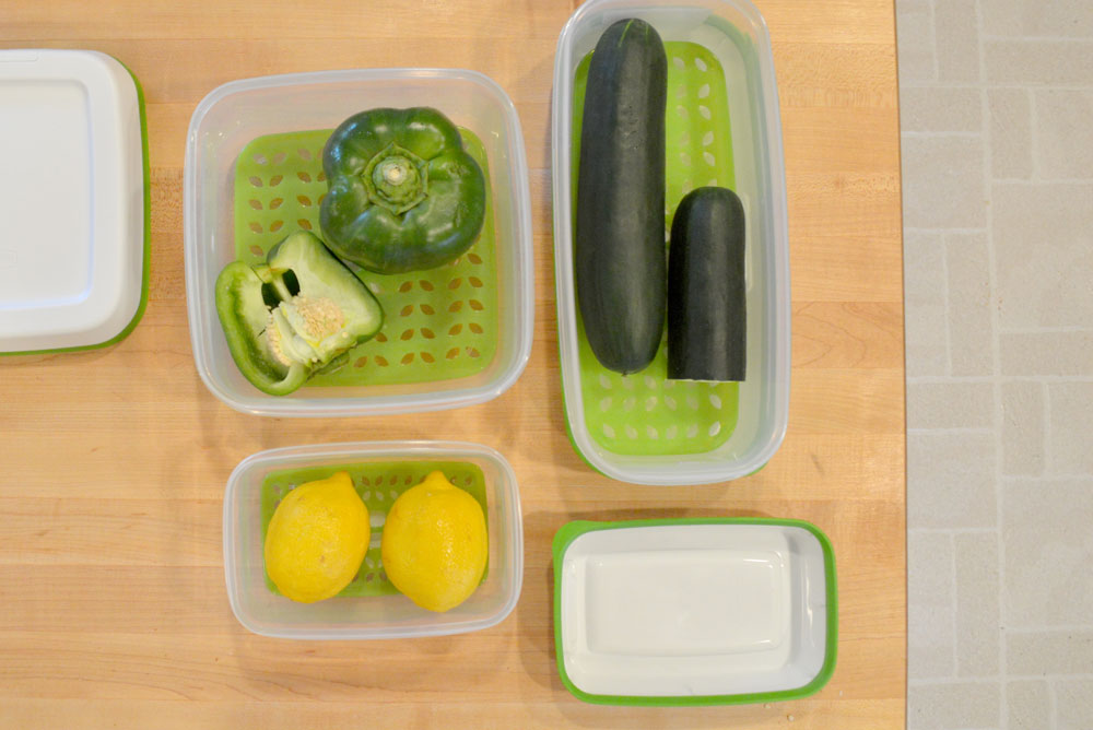 Rubbermaid FreshWorks product storage containers come in 3 sizes - Mommy Scene