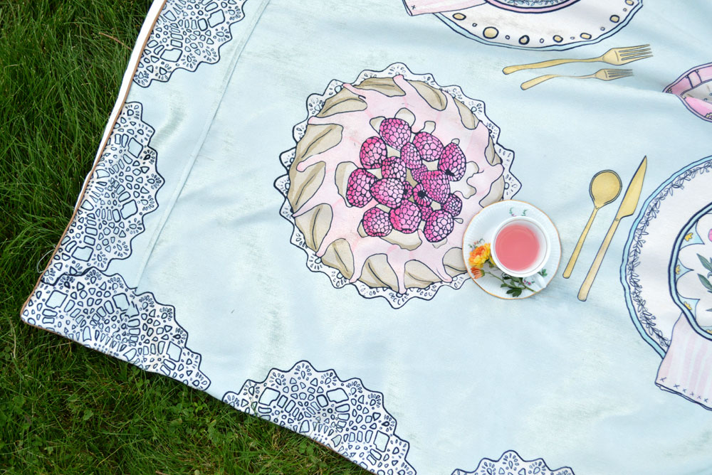 Tinseltot kids' tea party play mat - Mommy Scene