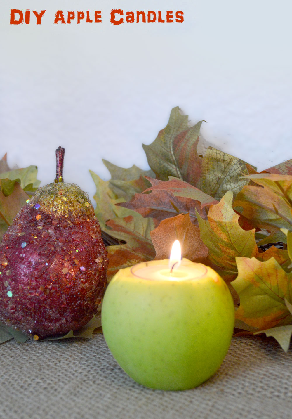 Easy DIY Apple Candles & Festive Fall Decor - Mommy Scene