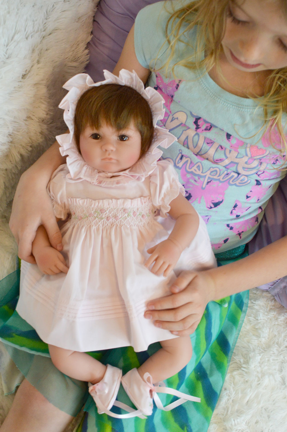 Caroline Grace collectible doll from the Feltman Brothers - Mommy Scene