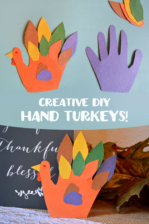 Creative DIY Hand Turkey fun fall kids activity - Mommy Scene