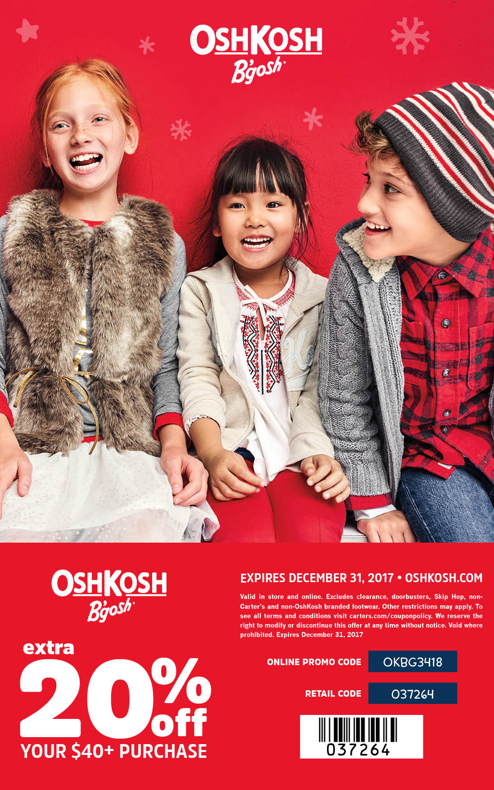 OshKosh Bgosh holiday savings coupon - Mommy Scene