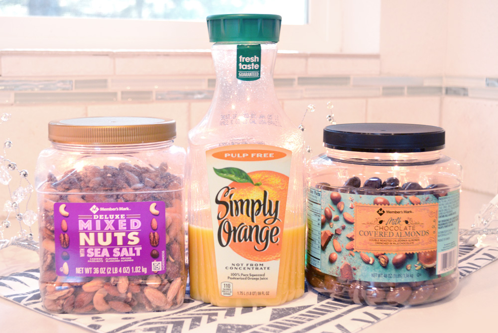 Sam's Club Member's Mark mixed nuts and Simply Juice - Mommy Scene