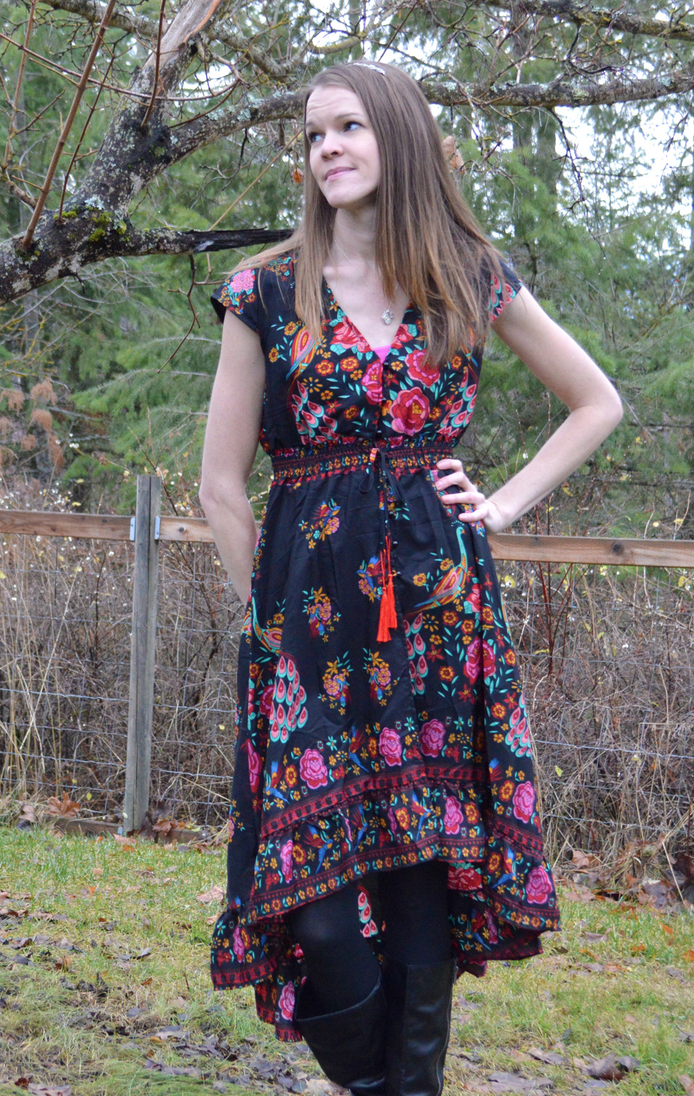 Top Tier Style bohemian rose dress - Mommy Scene