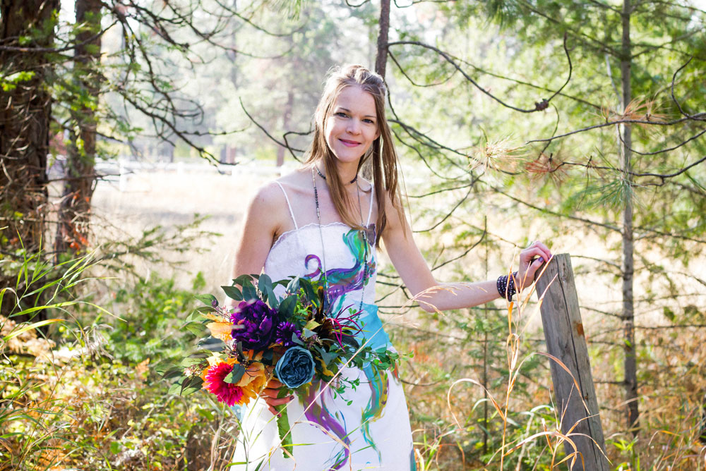 Colorful Trash the Dress wedding photos