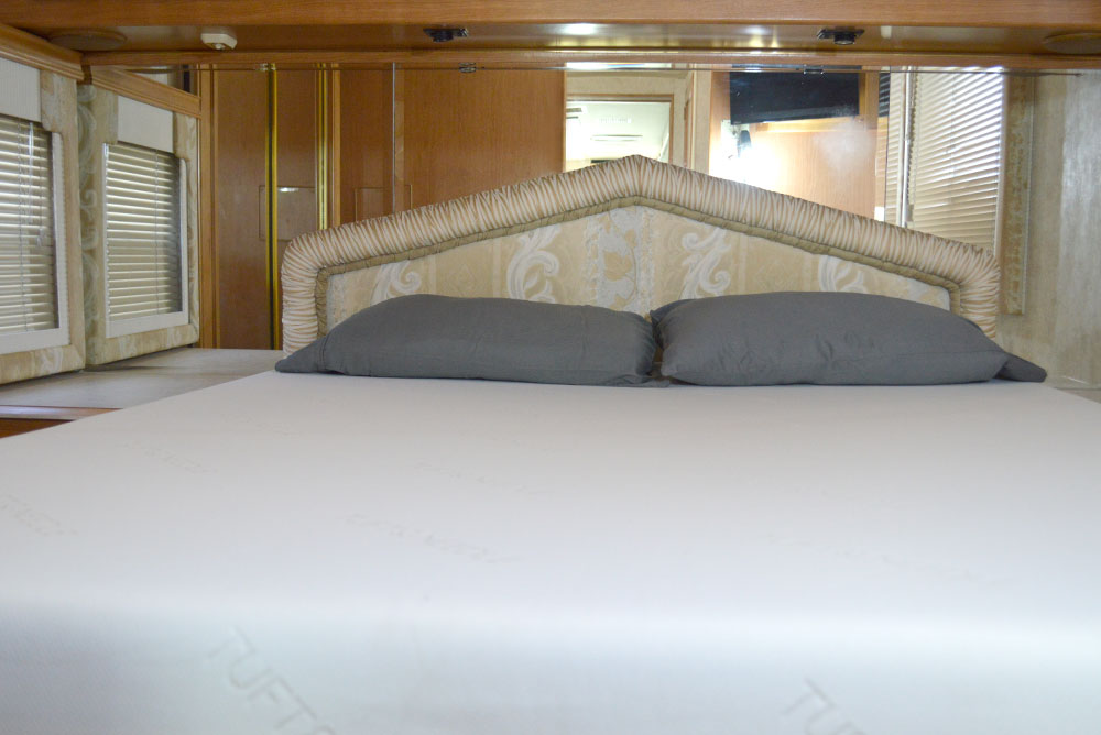 The Tuft & Needle mattress fits perfectly in our RV for family travel - Mommy Scene