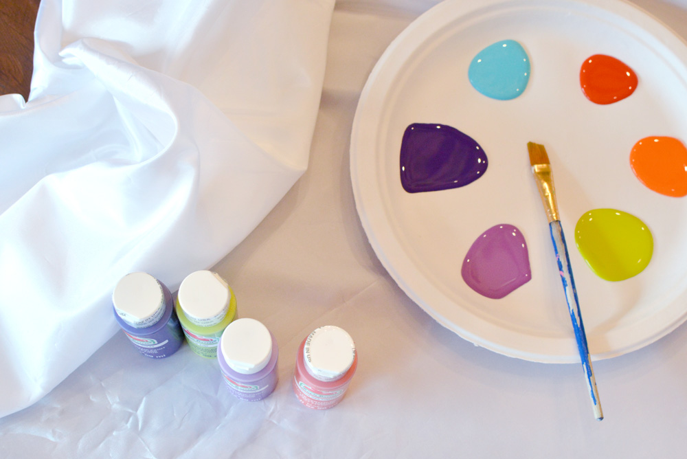 Trash the Dress with colorful craft paint - Mommy Scene