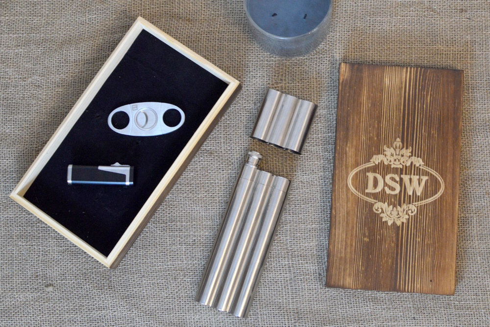 Groovy Groomsman Gifts Presto Fiesta cigar holder gift set and Bro Torch lighter - Mommy Scene