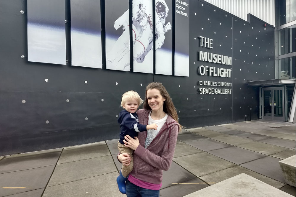 Seattle Museum of Flight Space Gallery - Pacific Northwest family trip