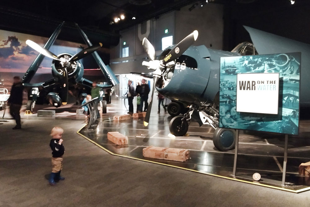 Seattle Museum of Flight World War exhibit - Pacific Northwest family trip
