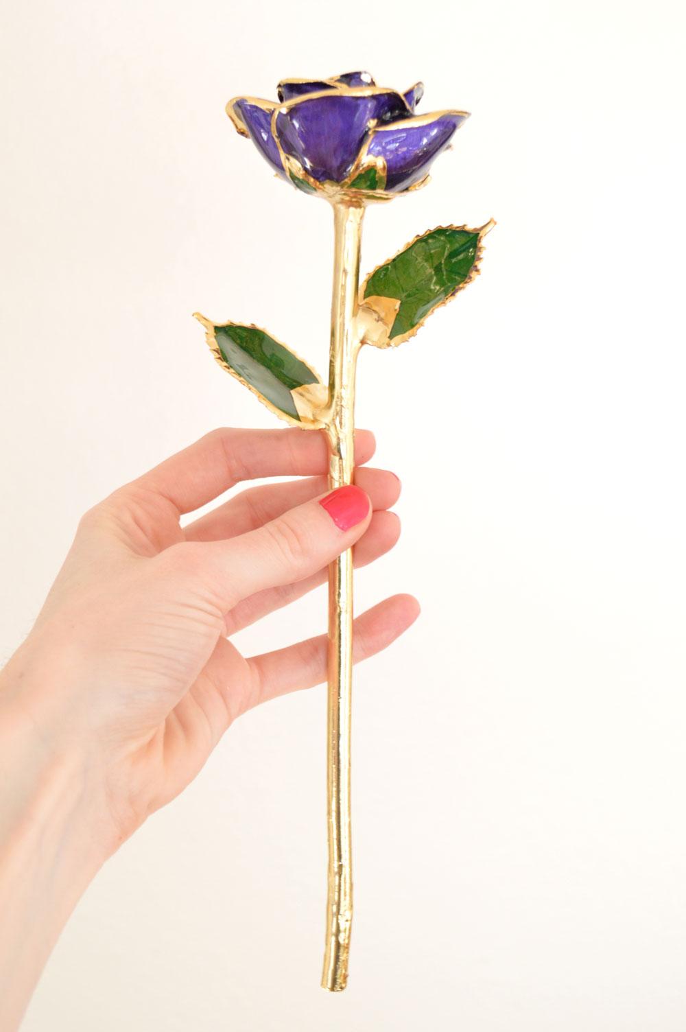 24k gold dipped Eternity Rose gift idea for her - Mommy Scene