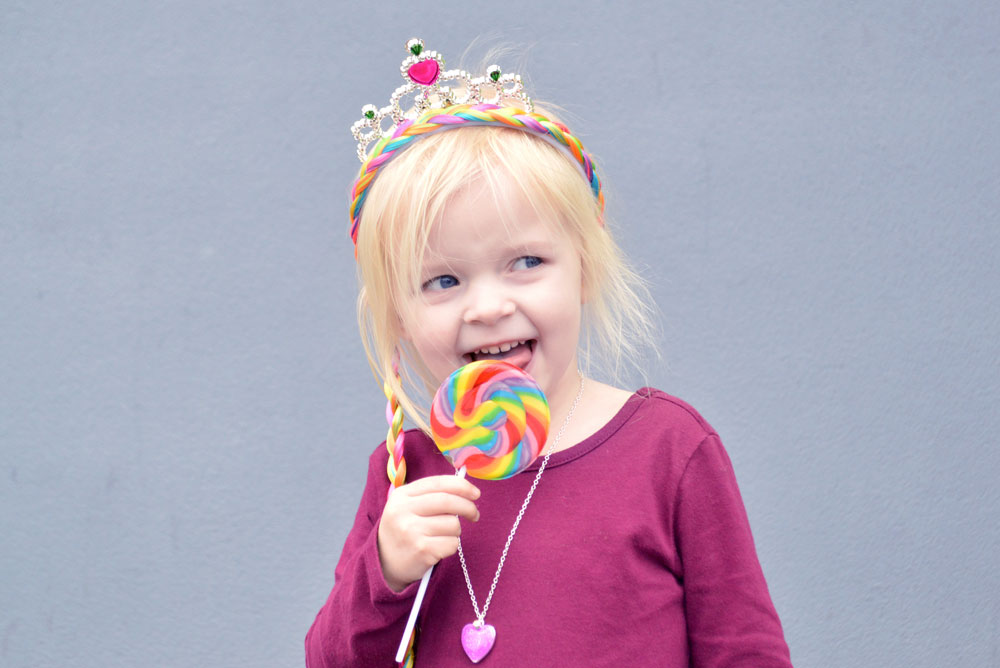 Family Fun Center Tukwila rainbow lollypop