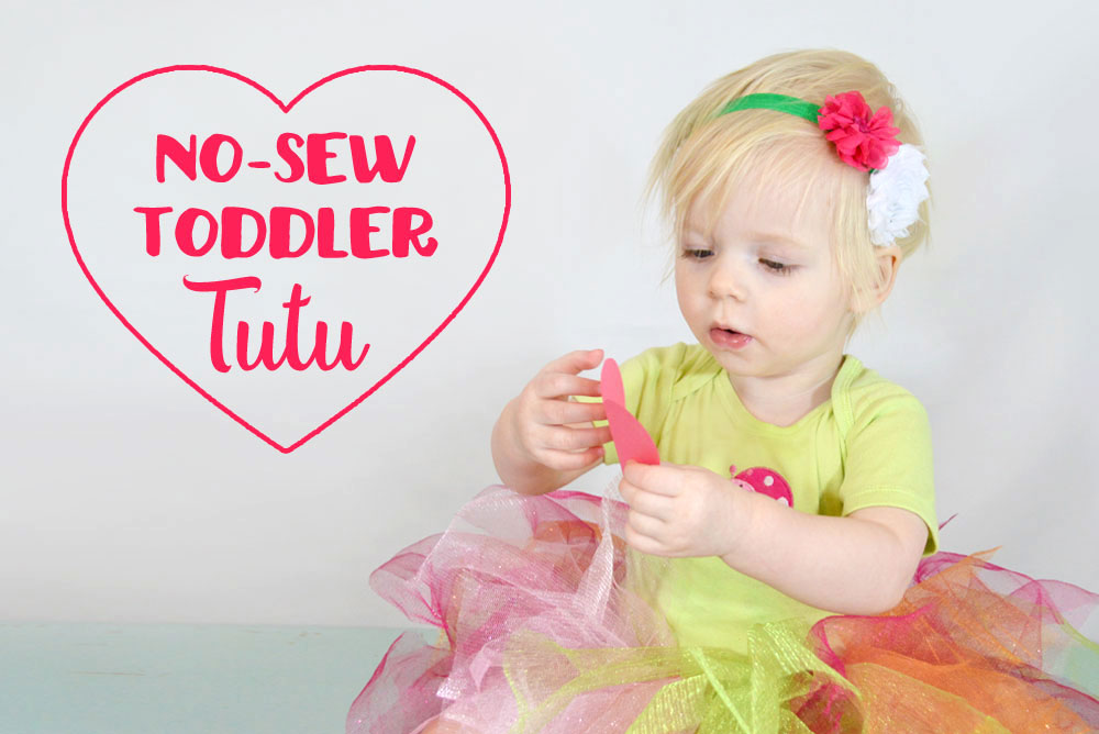 No-Sew Toddler Tutu using Tulle - Mommy Scene