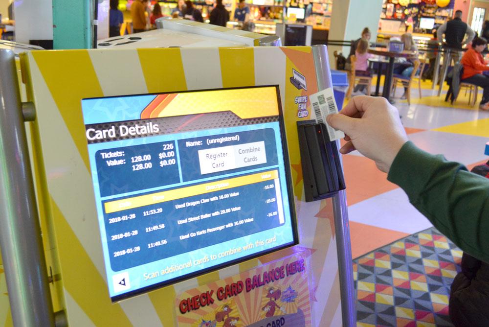 Tukwila Family Fun Center token card scanner - Mommy Scene