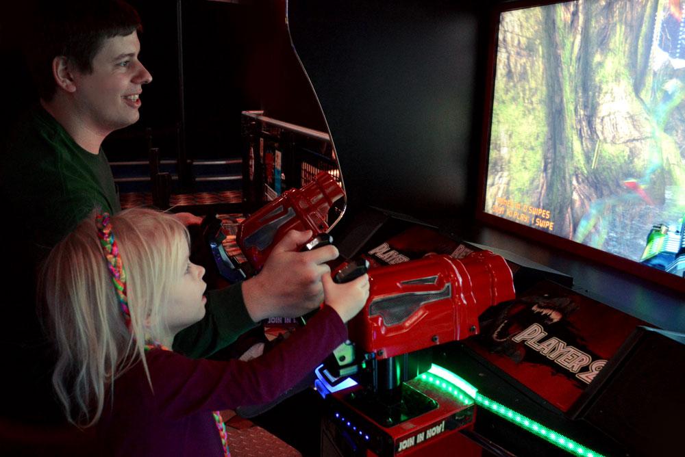 Tukwila Family Fun Center dinosaur arcade game - Mommy Scene