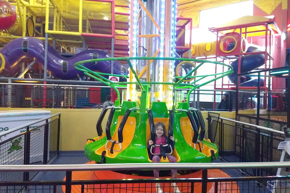 Tukwila Family Fun Center kids ride - Mommy Scene
