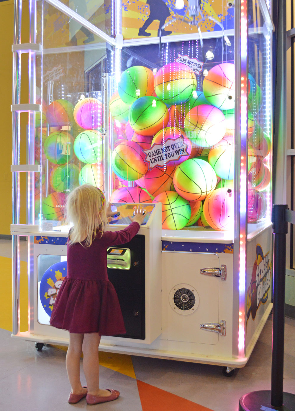 Tukwila Family Fun Center rainbow ball game - Mommy Scene