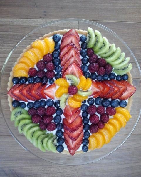 Easter treats cross shaped fruit platter